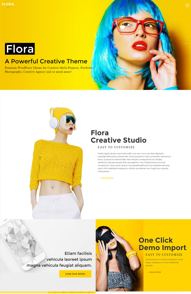 Flora - Best Portfolio WordPress Themes