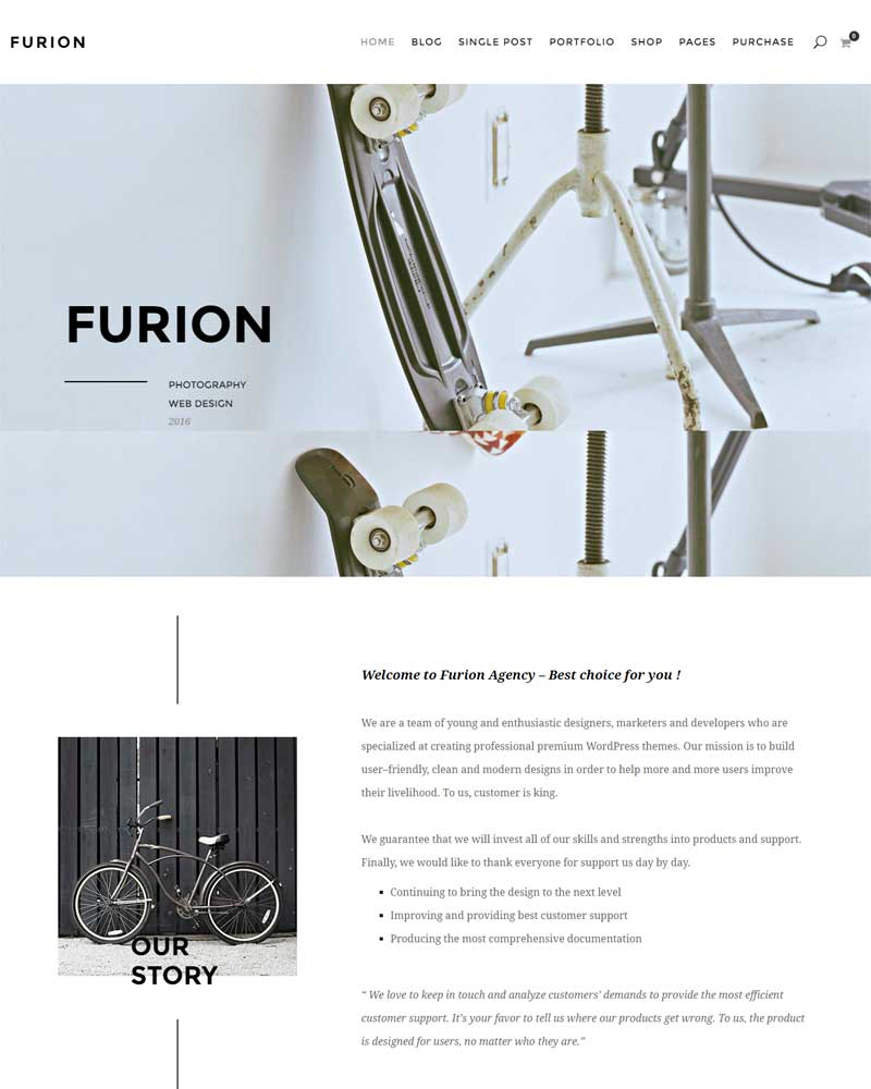 Furion Creative Portfolio WordPress Theme