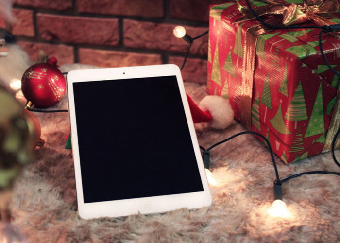 Mockup iPad In Christmas Style