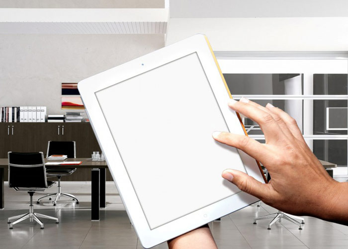 iPad Mockup In Office Style