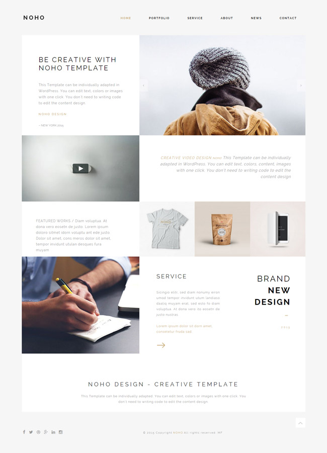 Noho - Creative Portfolio WordPress Theme