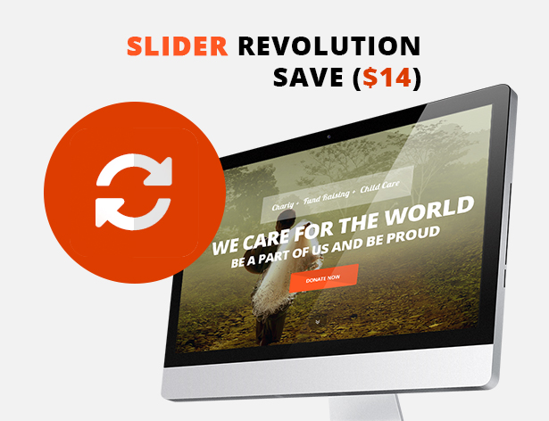 Slider Revolution with ELEVATION Charity Website Template