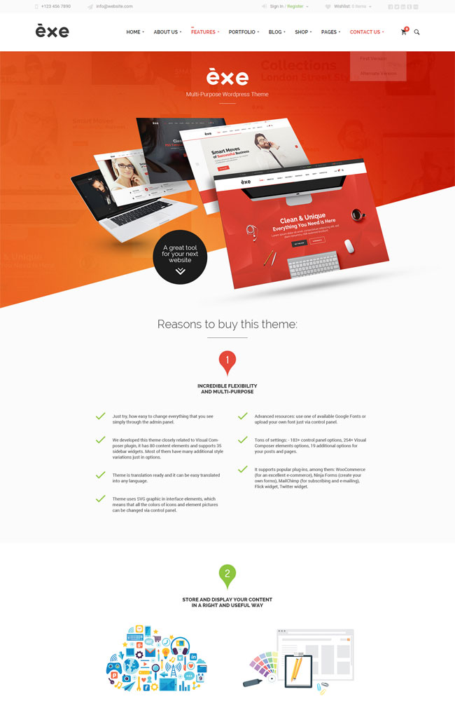 The EXE Best Portfolio WordPress Themes
