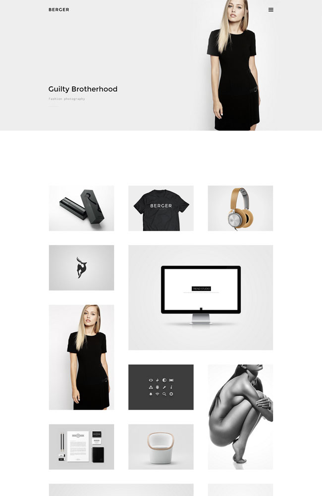 Berger Best Portfolio WordPress Themes