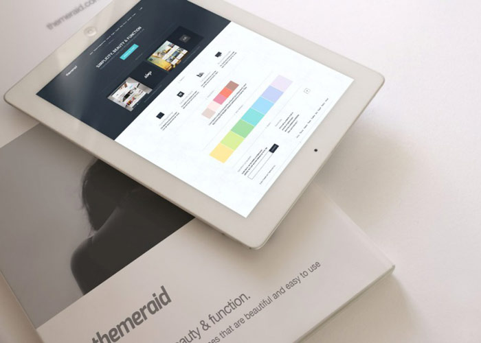 iPad On A White Background