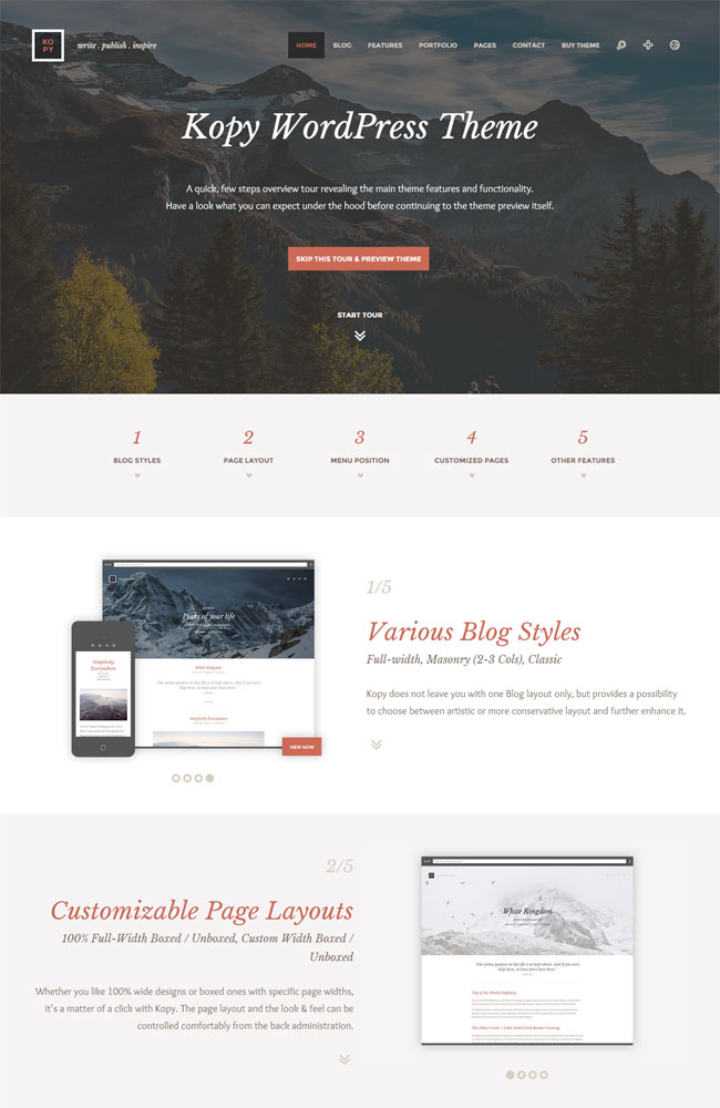 kopy Simple Personal Blogging WordPress Theme