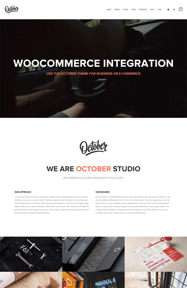 October - Creative Multi-Purpose WordPress Theme
