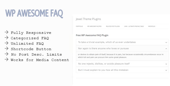 WP Awesome FAQ WordPress Plugin