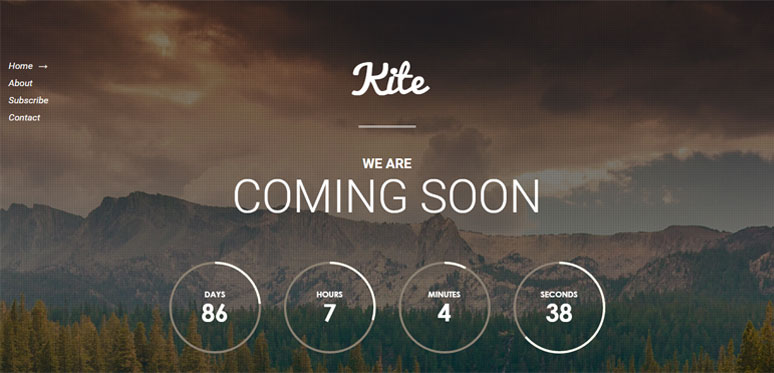 Kite Coming Soon WordPress Plugin