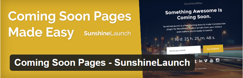 Coming Soon Pages - SunshineLaunch