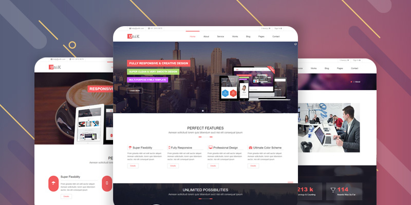 Unik HTML5 Website Template