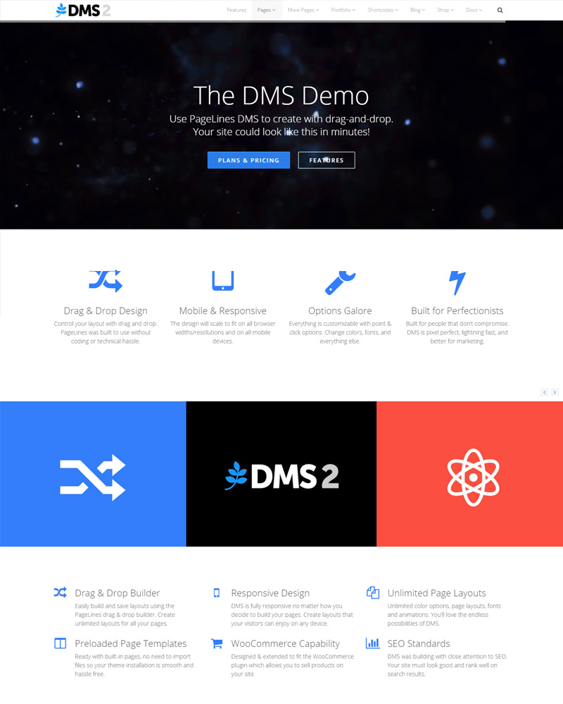 Colors for professional website - Dms Free Theme