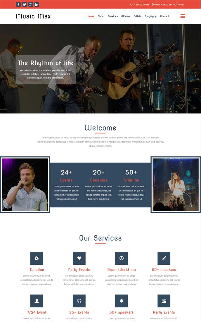 30 bootstrap website templates free download music max template maxwellsz