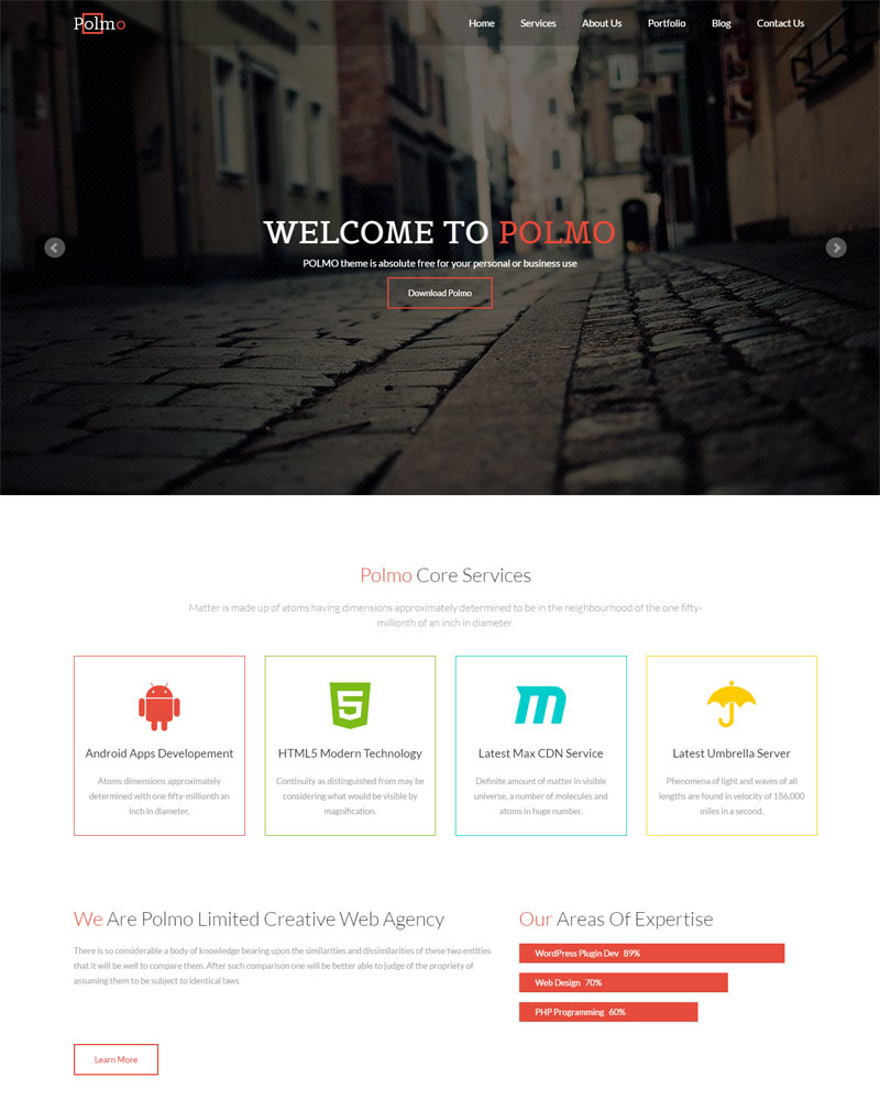 Polmo Lite Free WordPress Theme