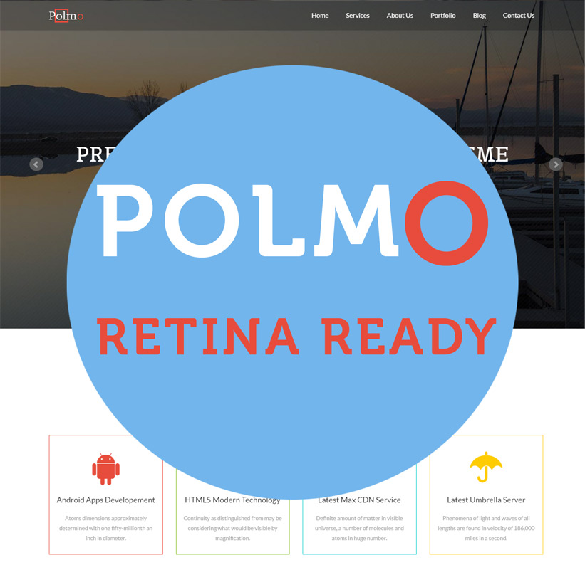 Polmo a Retina Ready WordPress Theme