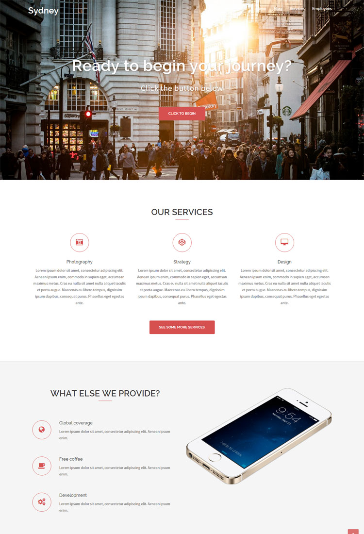 Sydney Service Based Freelancers Theme
