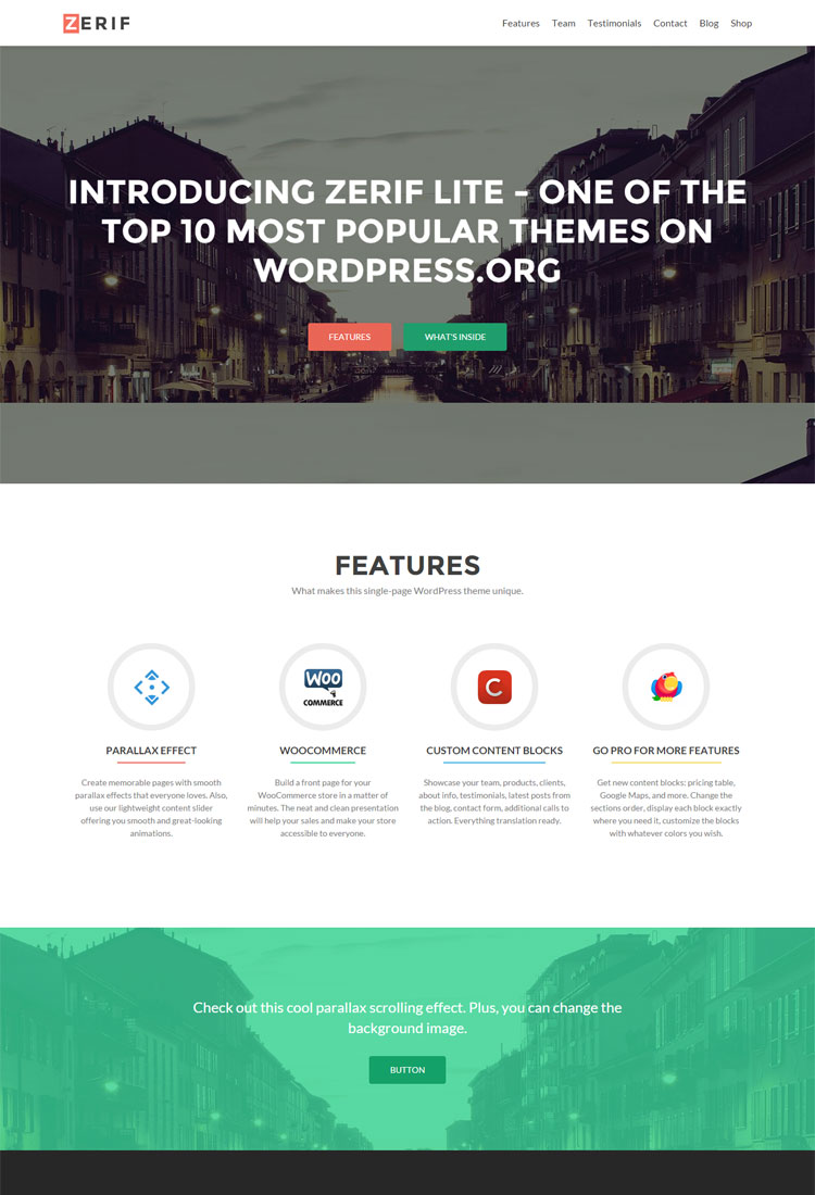 Zerif Lite one page WordPress Theme