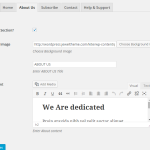 About Us Section Kite Plugin