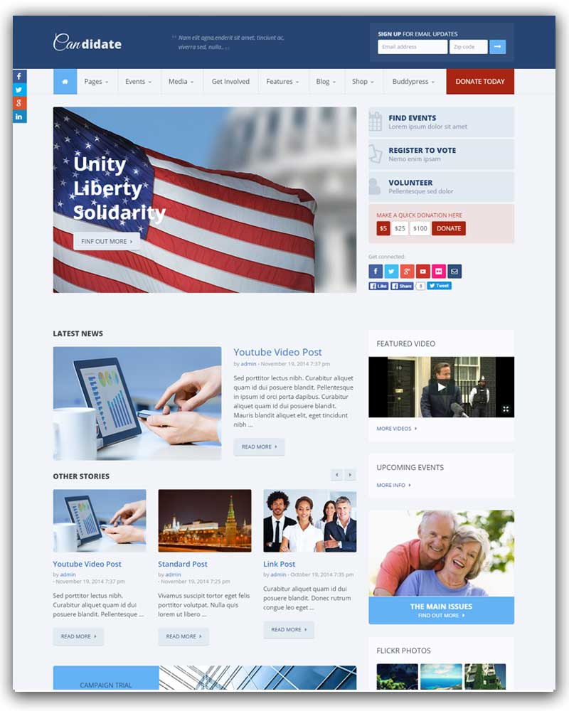 Candidate - Political and Nonprofit WordPress Theme
