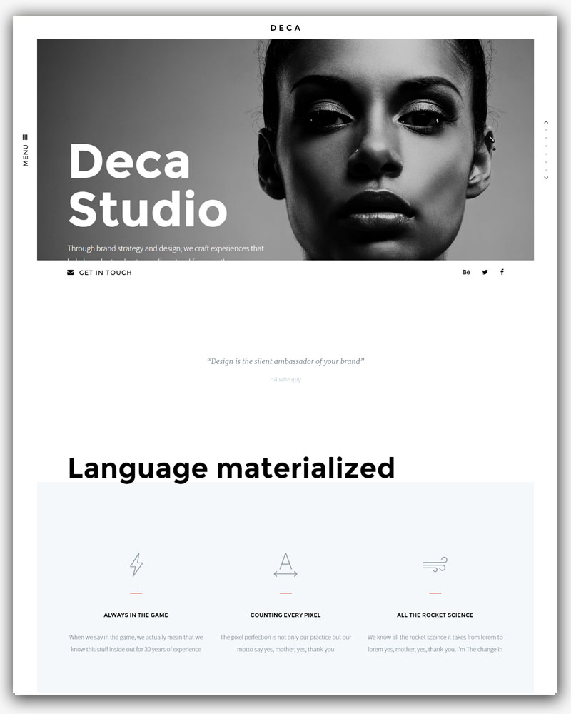 DECA Creative WordPress Theme
