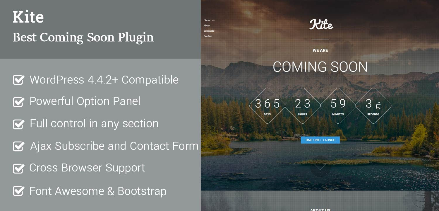 KIte best coming soon WordPress Plugin