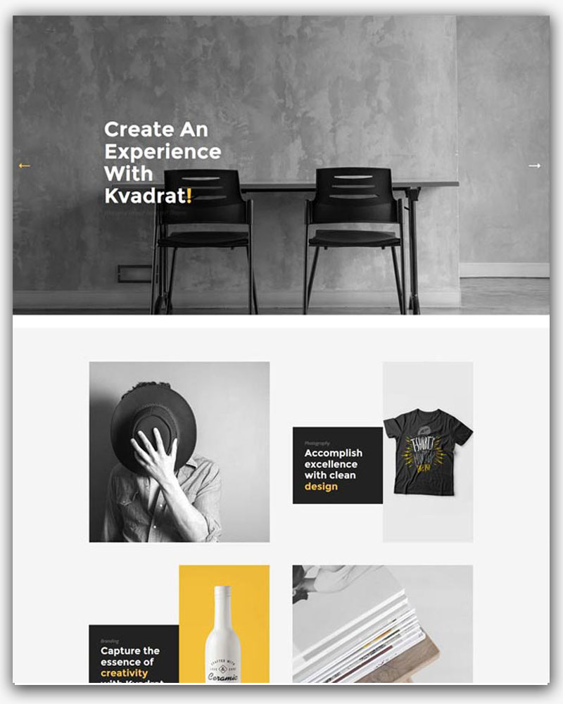 Kvadrat - Contemporary Portfolio WordPress Theme