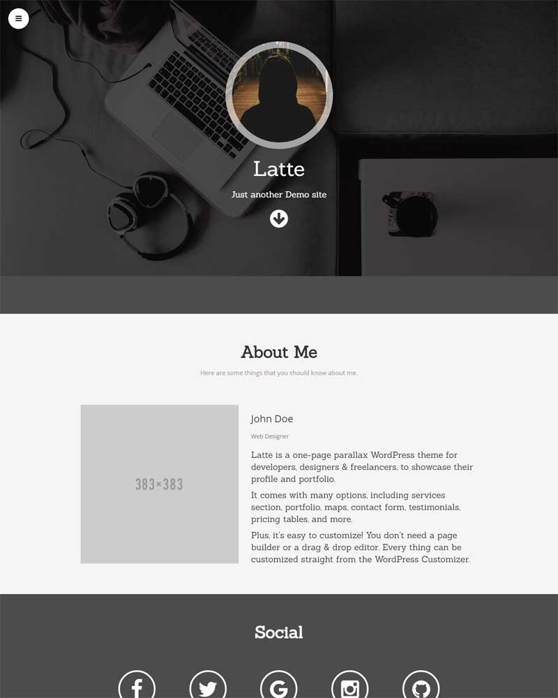 Latte Free WordPress Theme