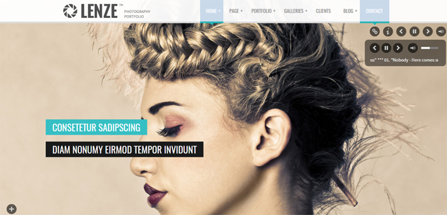 Portfolio Photography WordPress Theme