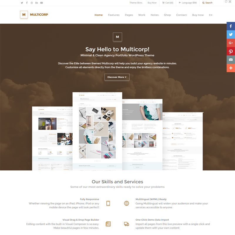 Clean Agency and Business WordPress Theme