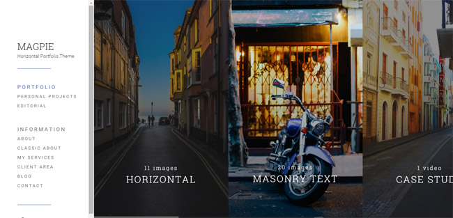 Horizontal and Clean Photography Theme