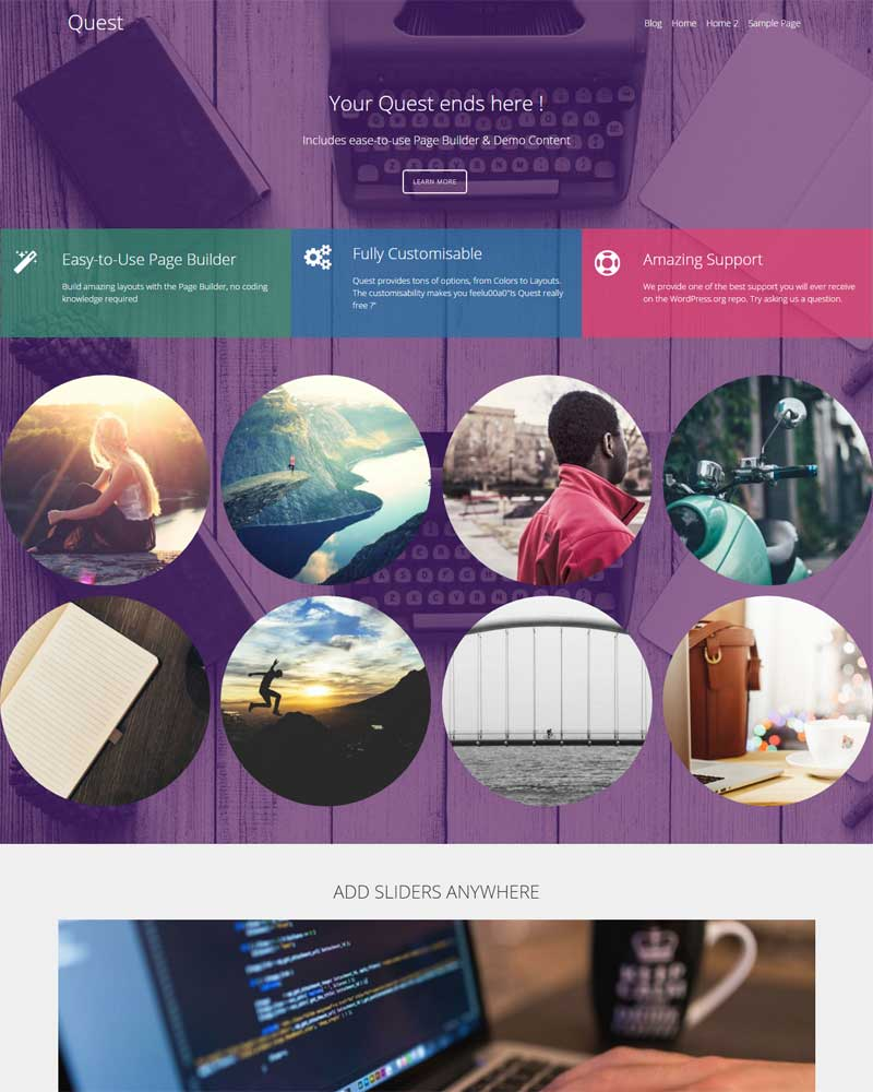 Quest Freebie WP Theme