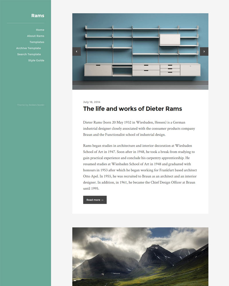 Rams Free WordPress Theme Download