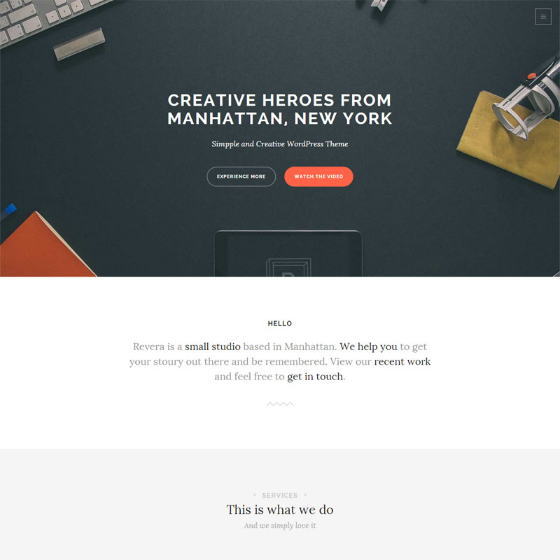 Simple and Creative Portfolio WP Theme
