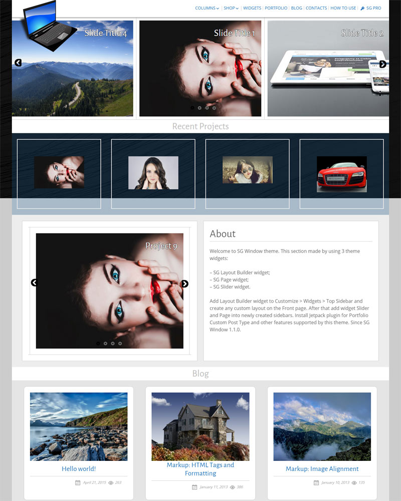SG Window Free Multipurpose WordPress Theme