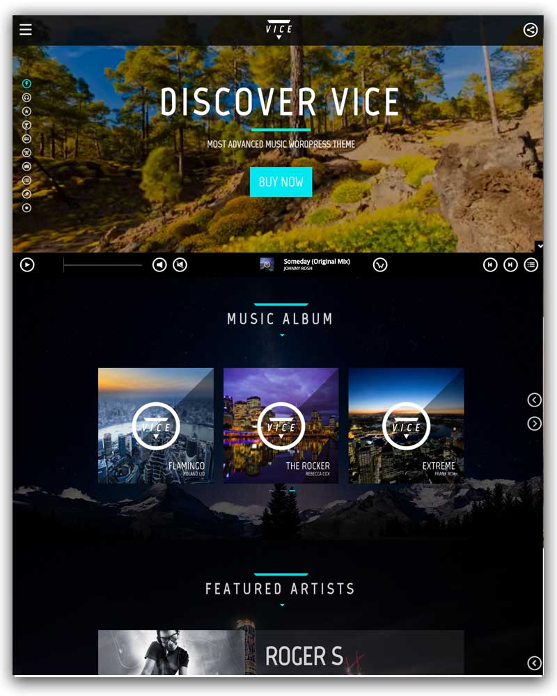 Vice: Music Band, Dj and Radio WordPress Theme