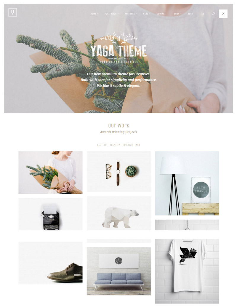 YaGa Multipurpose WordPress Theme for 2016