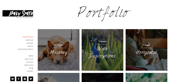 A Clean Theme for Photographers