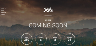Kite – Coming Soon WordPress Plugin