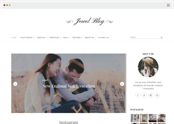 Jewel Blog – A Blogging WordPress Theme