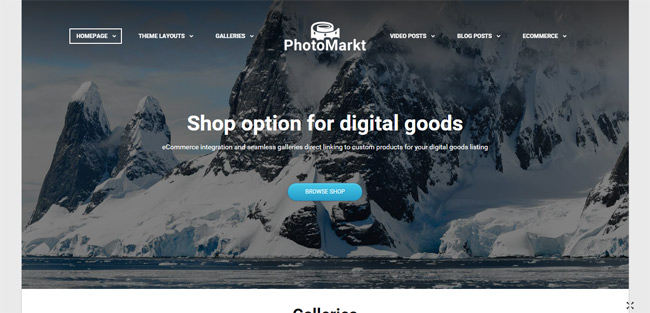 PhotoMarkt - Photography eCommerce Theme
