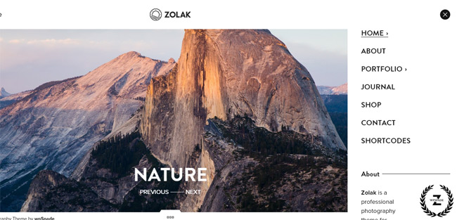 Zolak - Photography Theme
