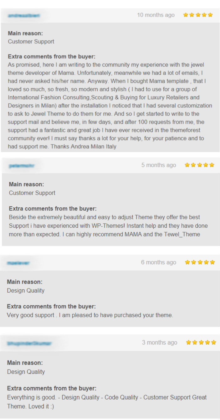 Customer Testimonial about Jewel Theme for Creating Best Wordpress Themes