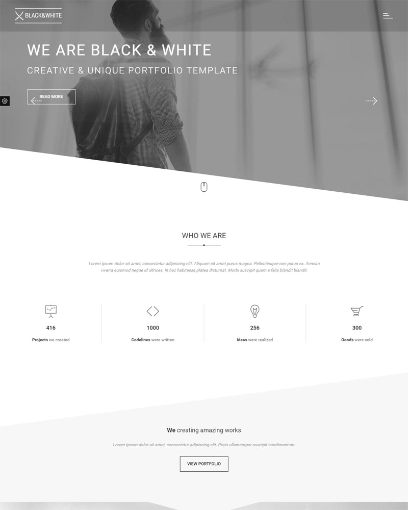 Black&White - Creative Multipurpose HTML Template