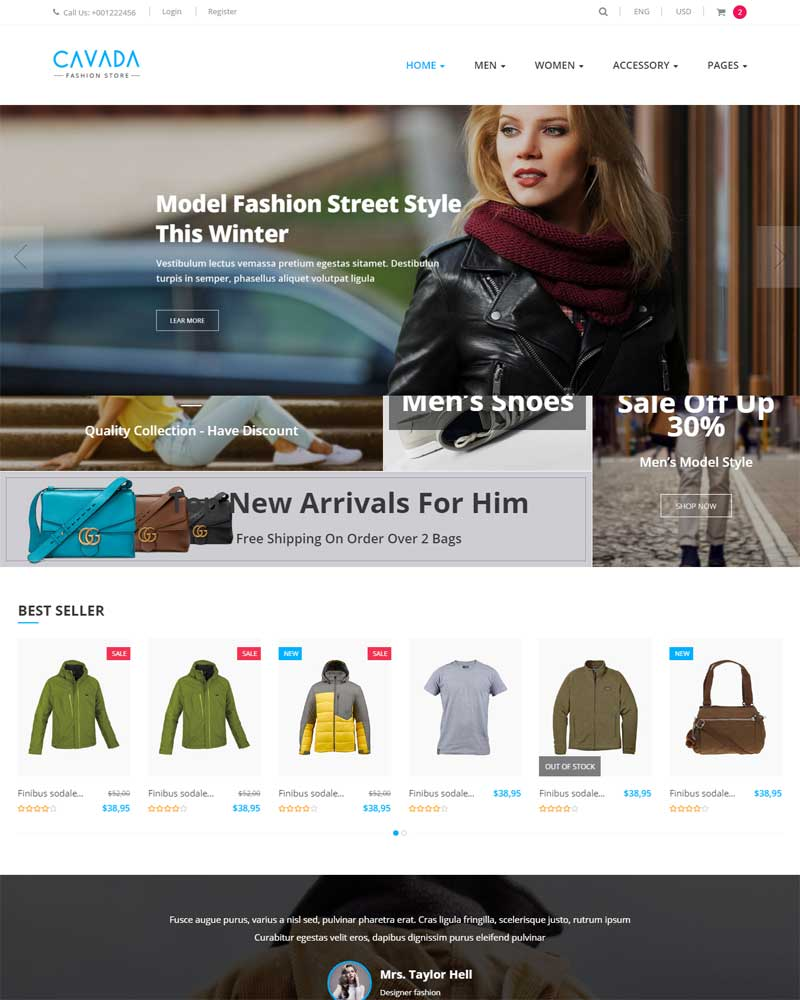 Cavada - Multipurpose eCommerce HTML Template