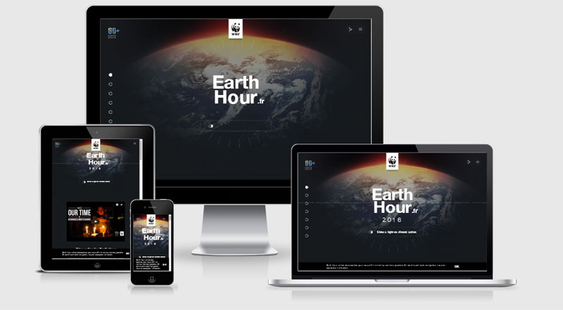 Earth Hour Responsive Web Design Examples