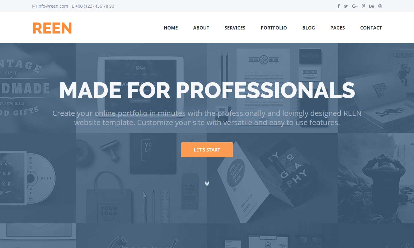 Free Business Website Templates | Reen Responsive Free Business Website Template
