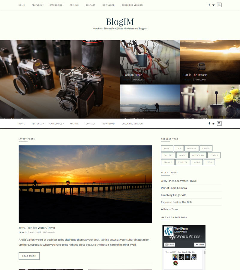 BlogIM Free WordPress Themes
