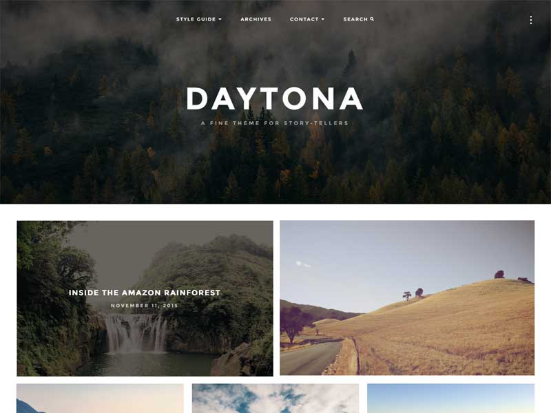 Daytona - A Fine Responsive WordPress Blog Theme