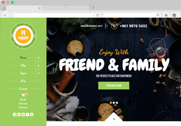 Foody – Responsive Food, Recipe Restaurant/Cafe WordPress Theme