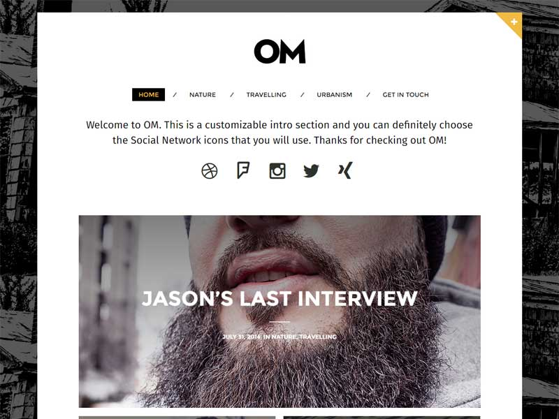 Om Creative Blogging Theme